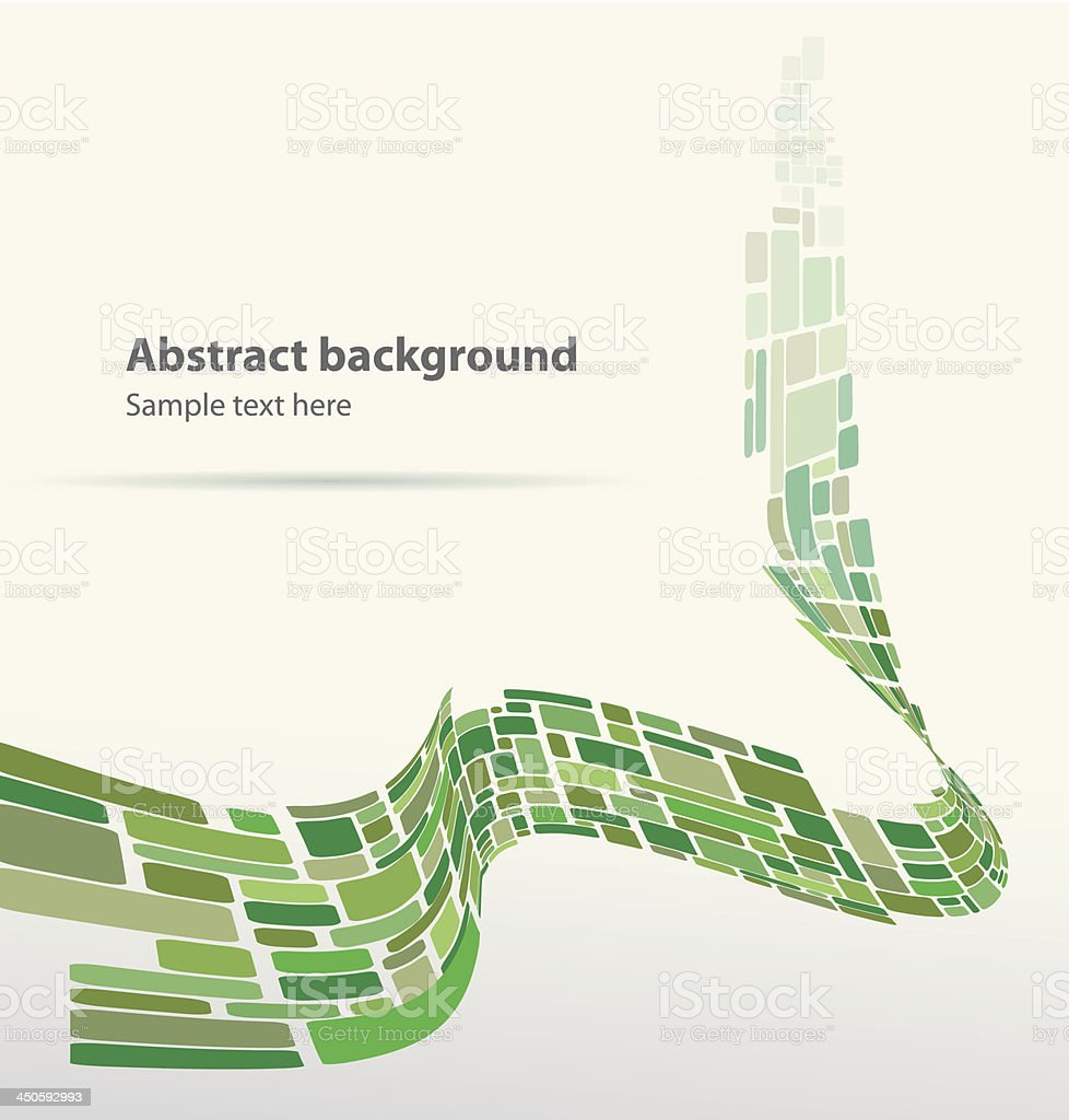 Mosaic abstract illustration tape greenish color royalty-free stock vector art