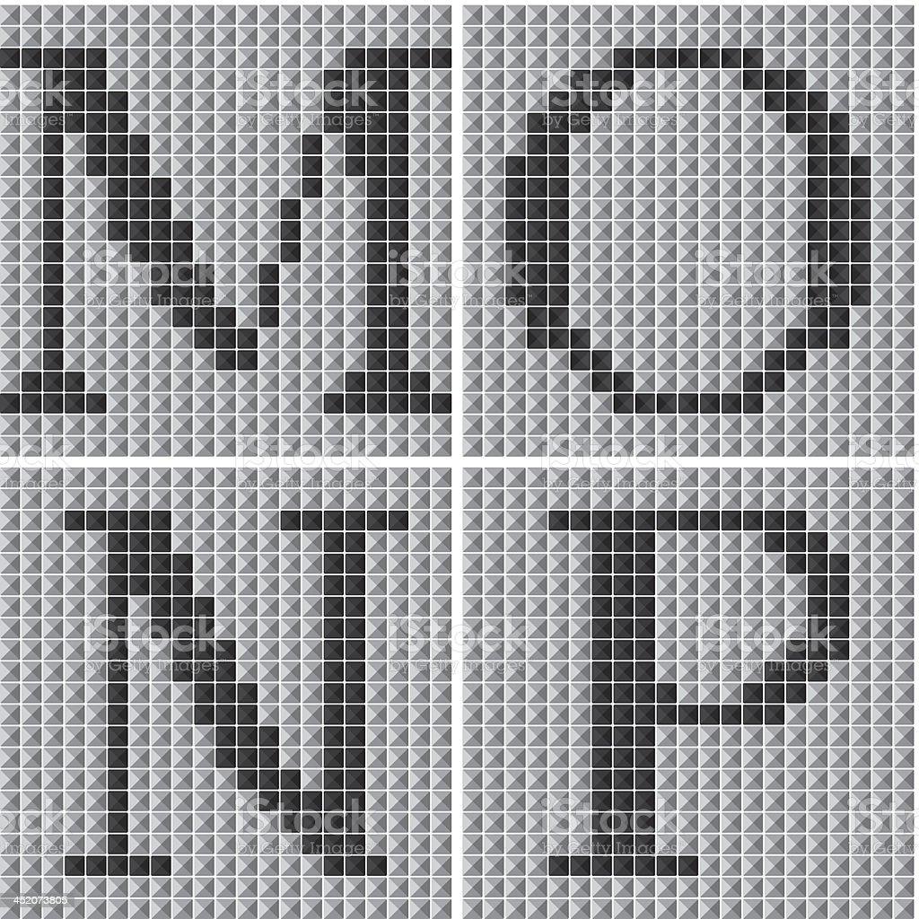 Mosaic alphabet letters royalty-free stock vector art