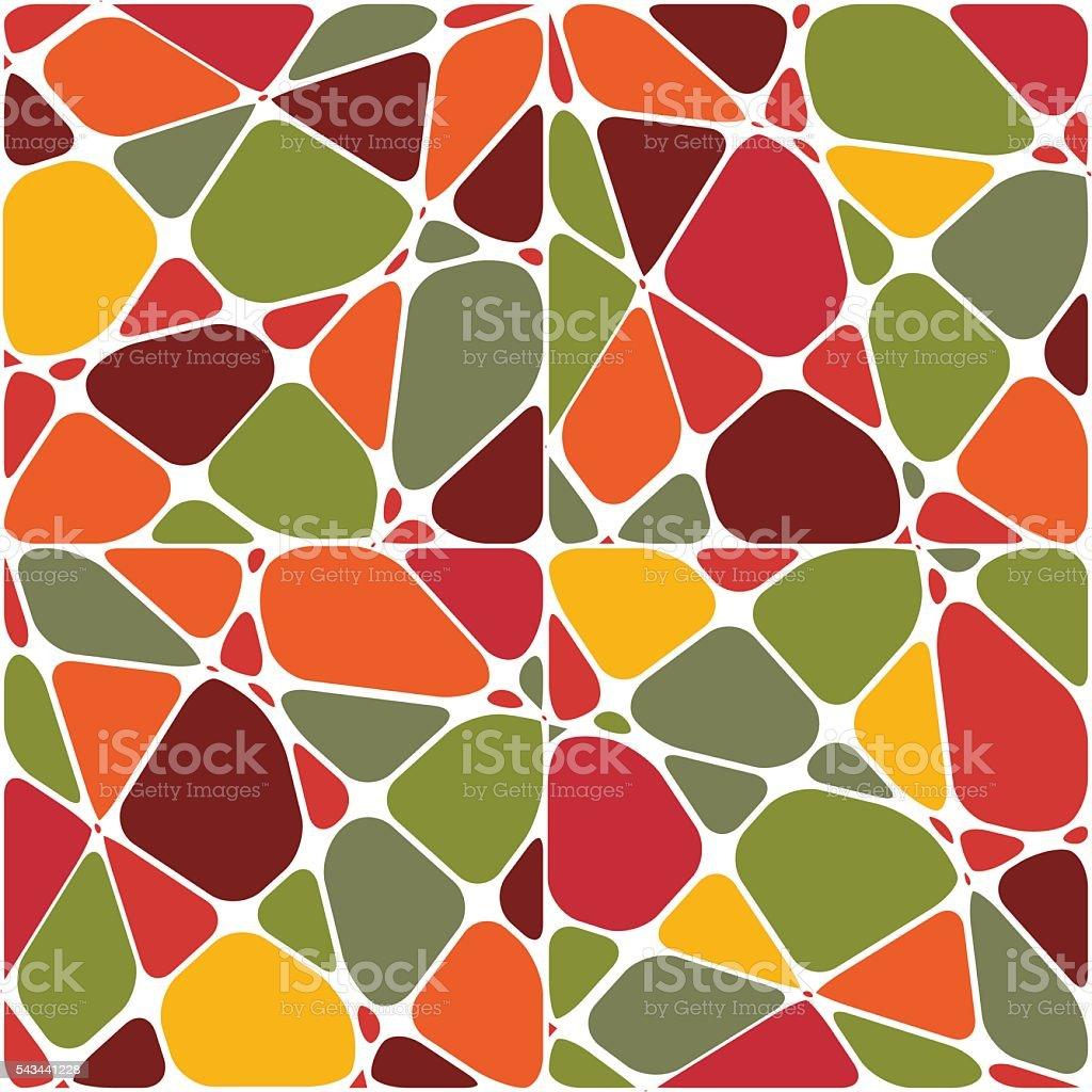 Mosaic background . vector art illustration