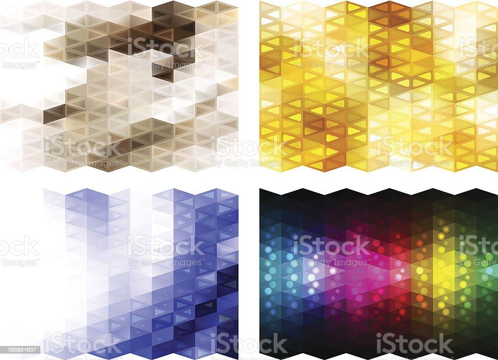 Mosaic backgrounds vector art illustration