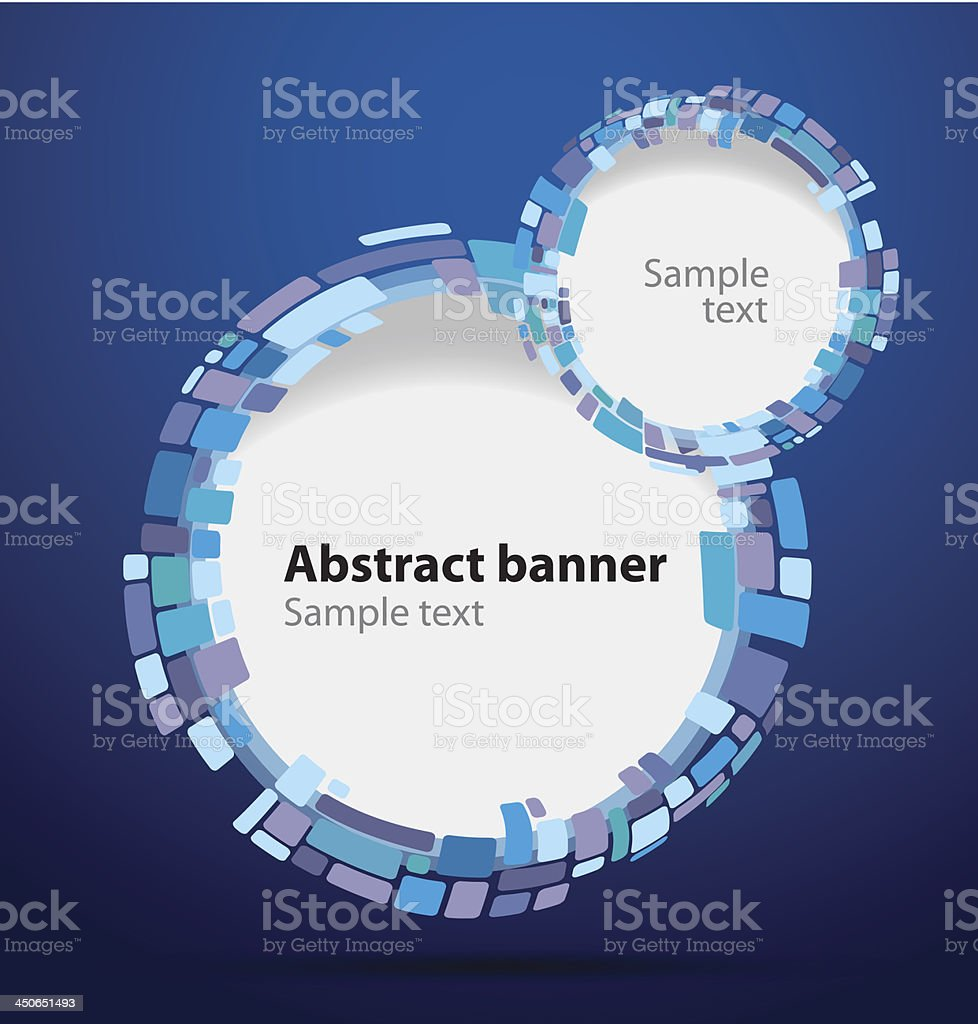 Mosaic banner circle royalty-free stock vector art