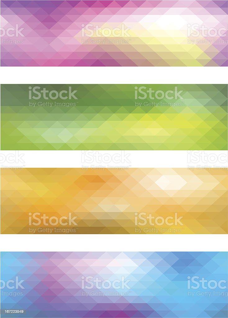 Mosaic banner set royalty-free stock vector art