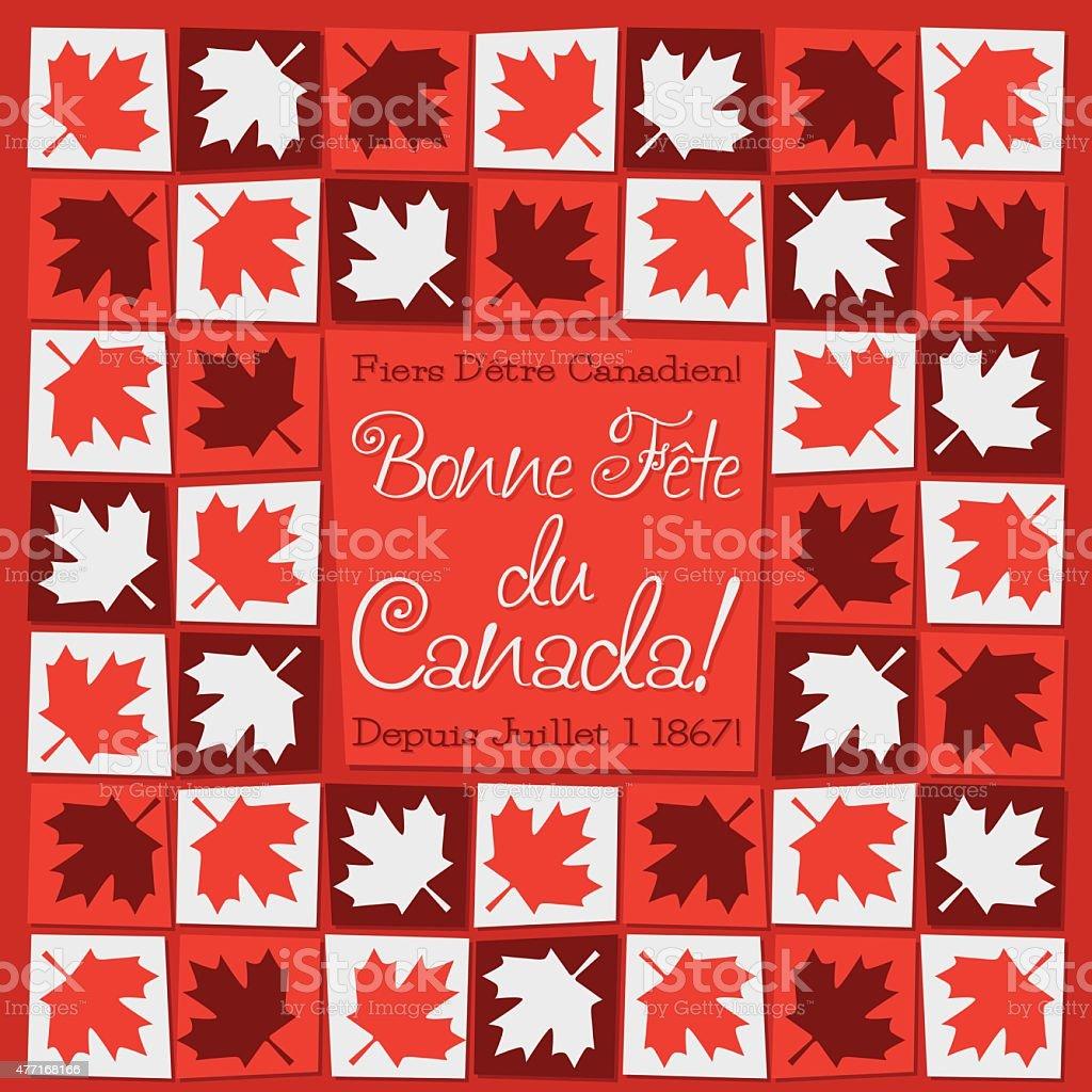 Mosaic Canada Day card in vector format. vector art illustration