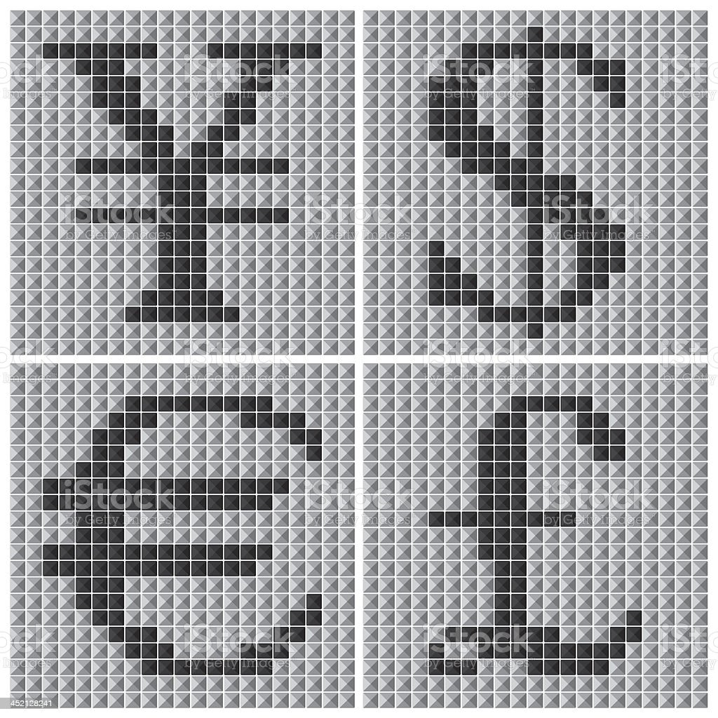 Mosaic Currency Symbol royalty-free stock vector art