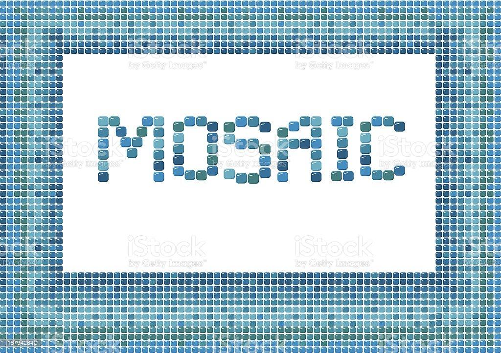 mosaic frame (horisontal) on white background royalty-free stock vector art