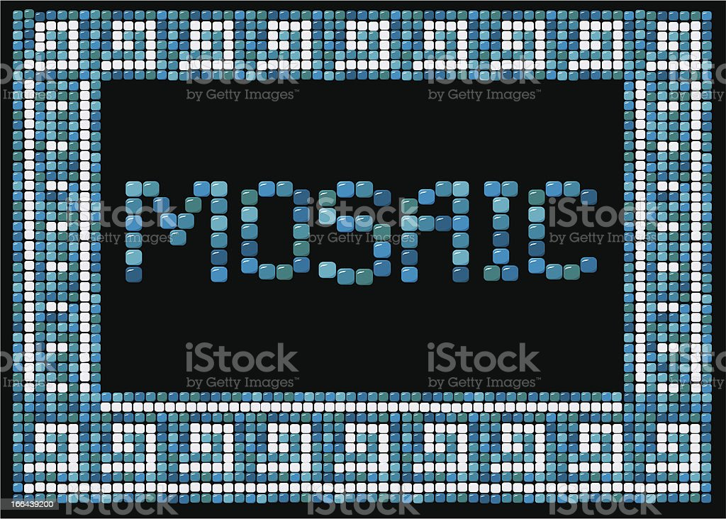 mosaic frame (landscape) royalty-free stock vector art