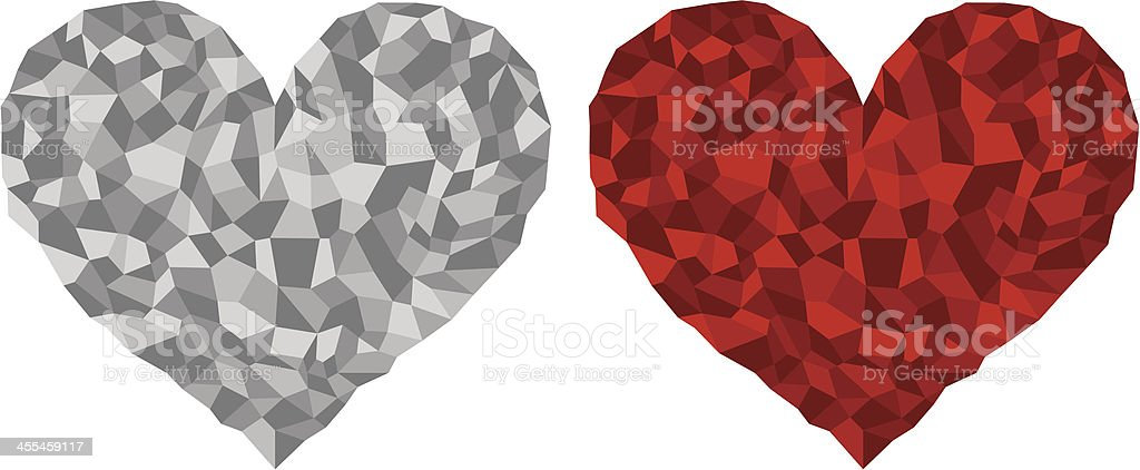 Mosaic (tiled) heart royalty-free stock vector art