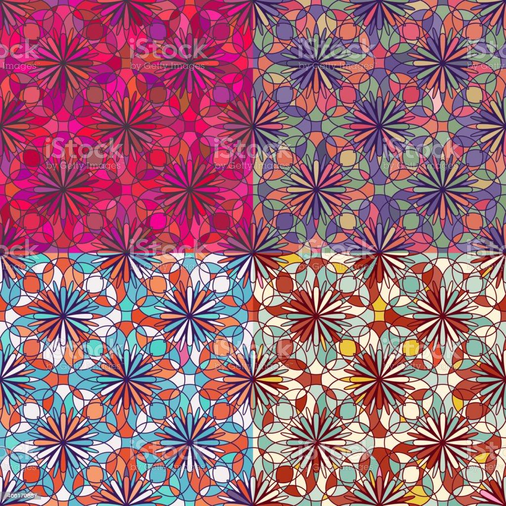 Mosaic Seamless Pattern royalty-free stock vector art