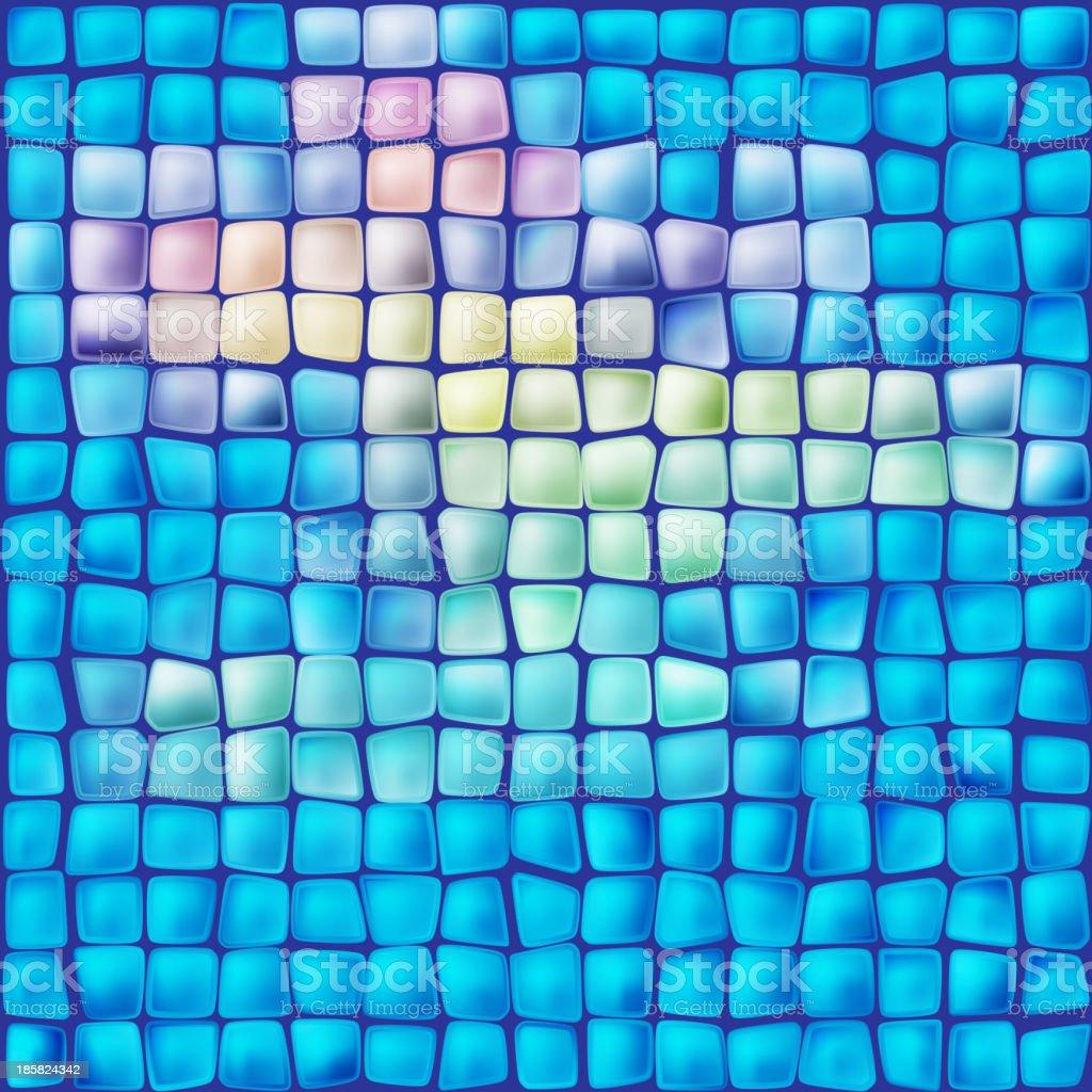 Mosaic vector art illustration