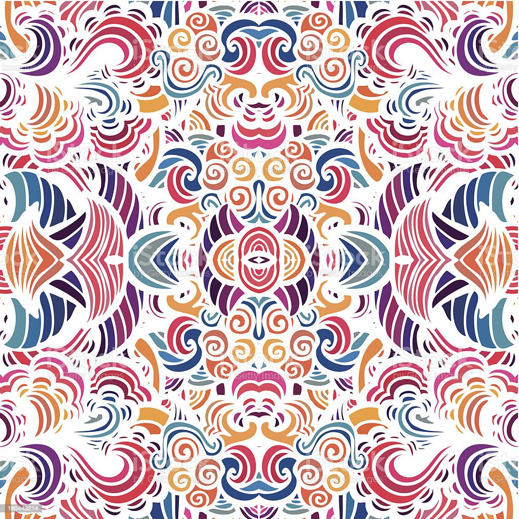 Mosaic vector seamless pattern royalty-free stock vector art