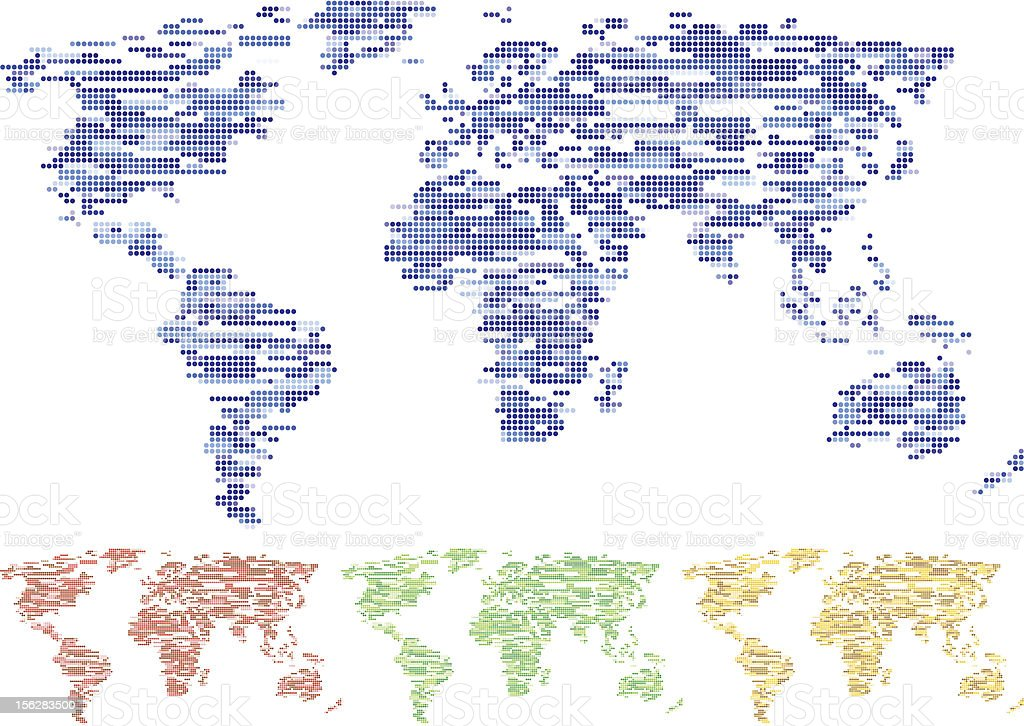 Mosaic world. royalty-free stock vector art