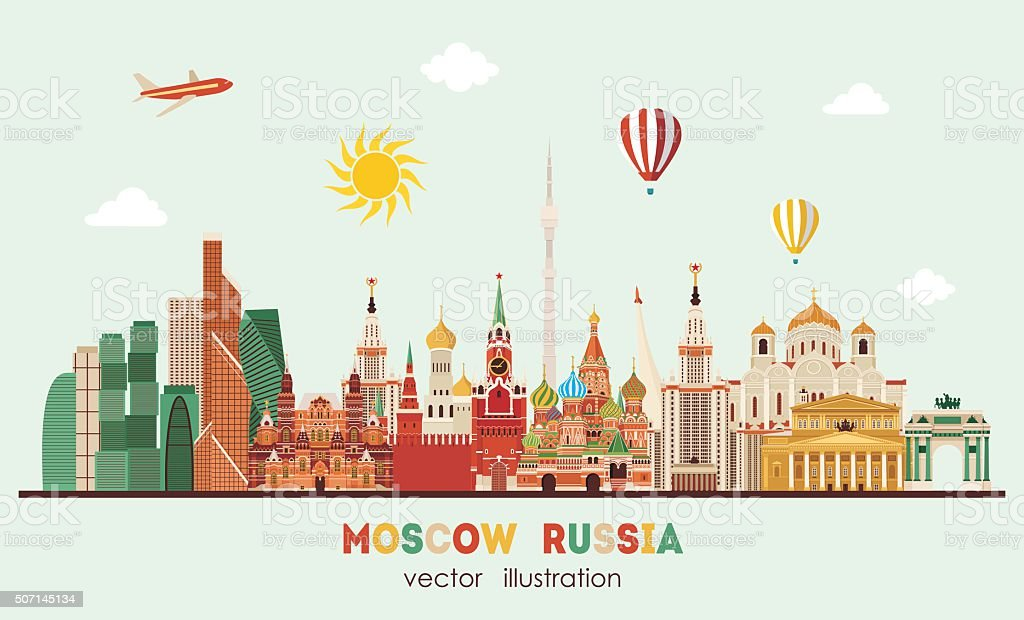 Moscow skyline . Vector illustration vector art illustration
