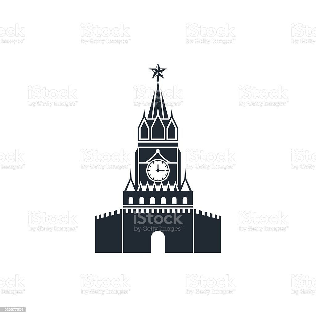 moscow vector art illustration