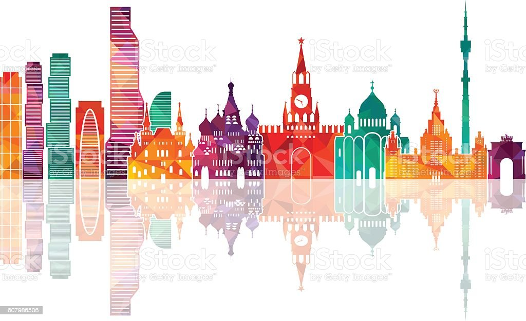 Moscow. Vector illustration vector art illustration