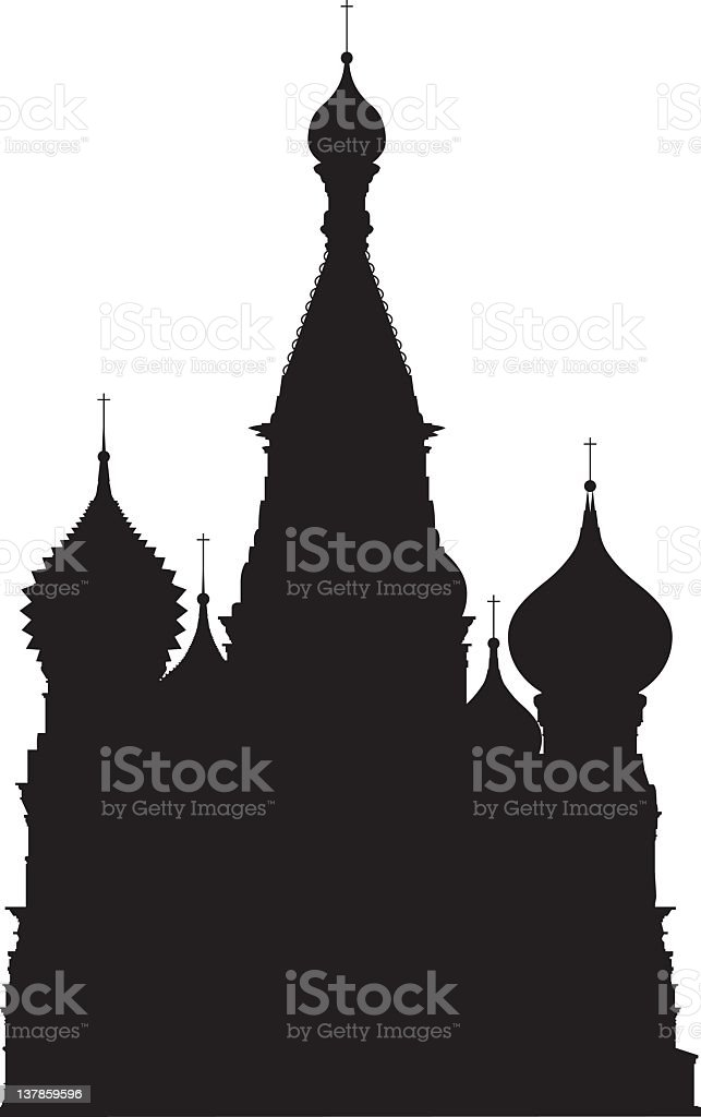 Moscow's Saint Basil's Cathedral vector art illustration