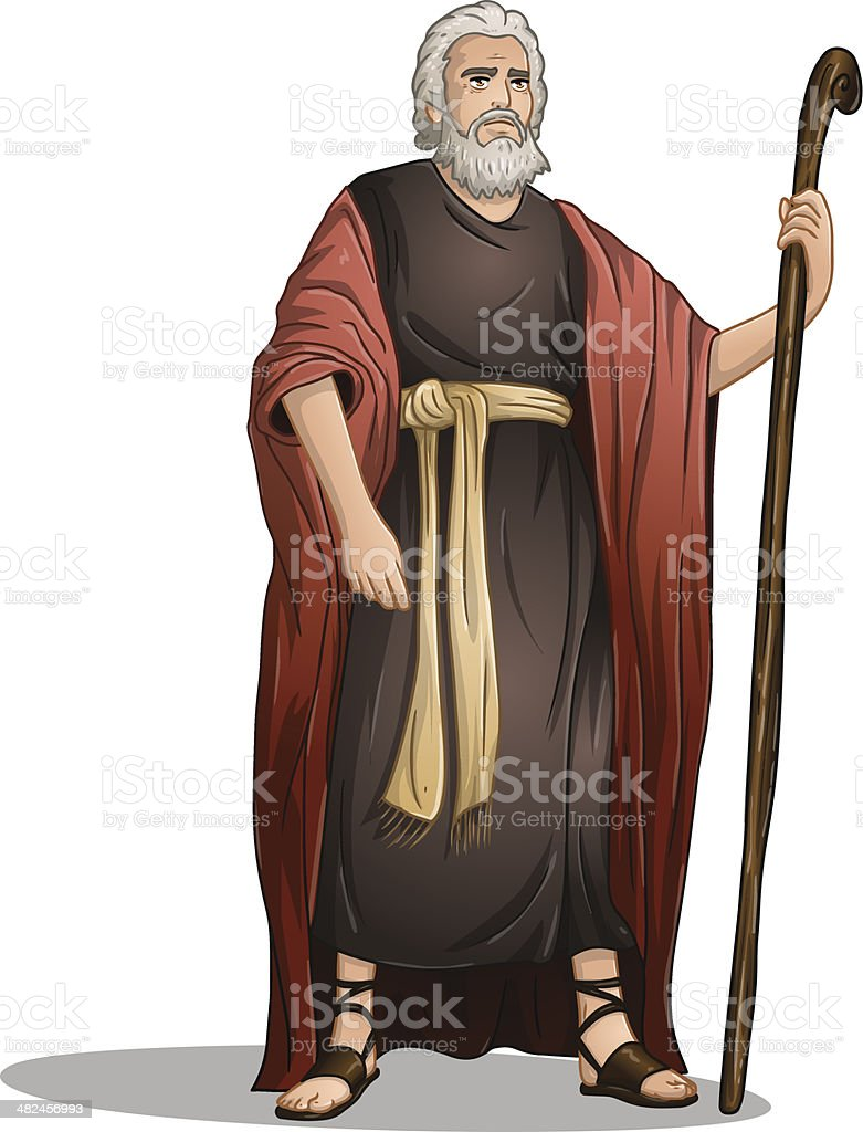Moses From Bible For Passover vector art illustration
