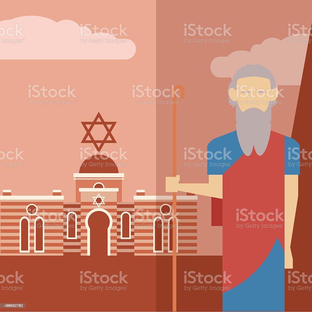 Moses icon 2 vector art illustration