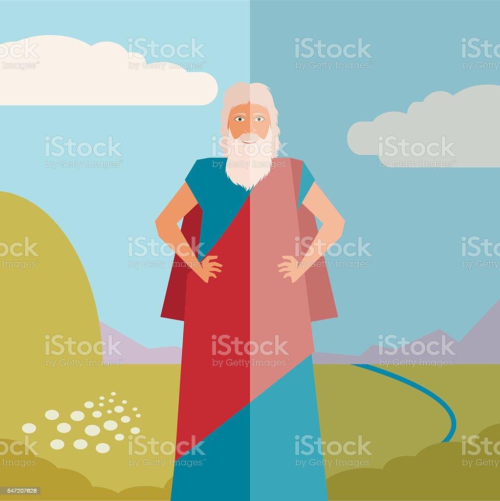 Moses Jew Banner vector art illustration