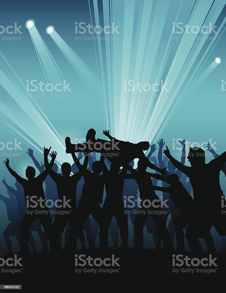 Mosh pit vector art illustration