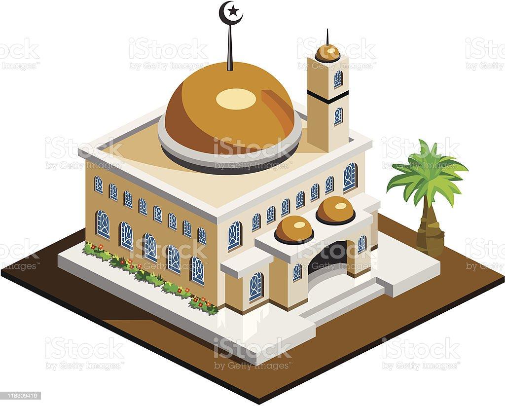 Mosque Icon Isometric royalty-free stock vector art
