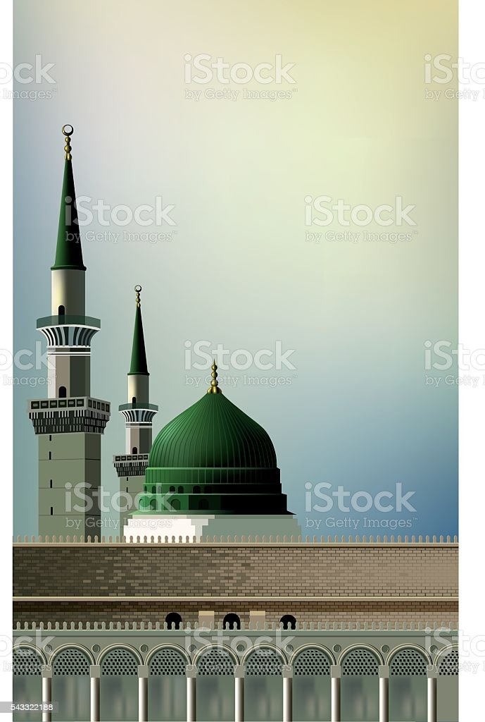 Mosque illustration vector art illustration