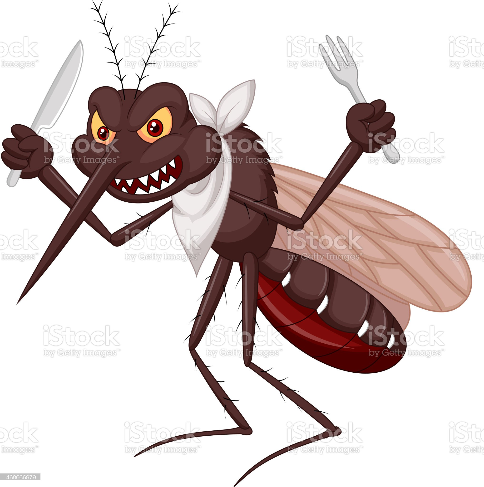 Mosquito cartoon ready for eat royalty-free stock vector art