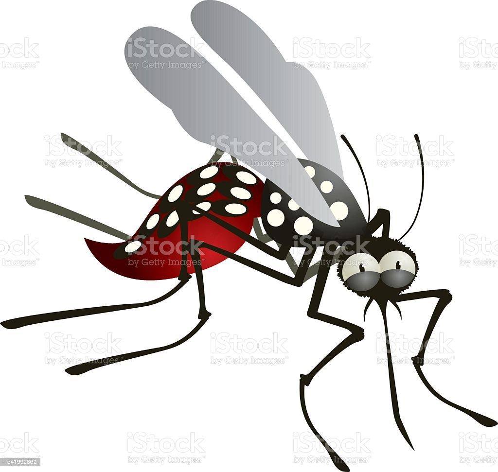 Mosquito Cartoon vector art illustration