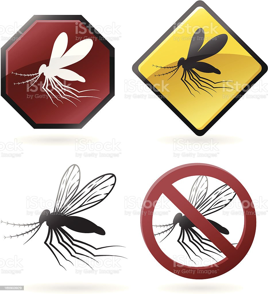 Mosquito Icons vector art illustration