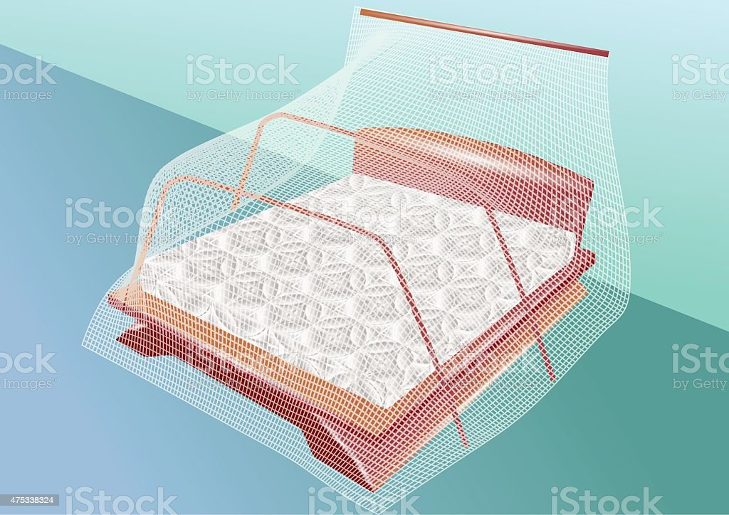 mosquito net vector art illustration