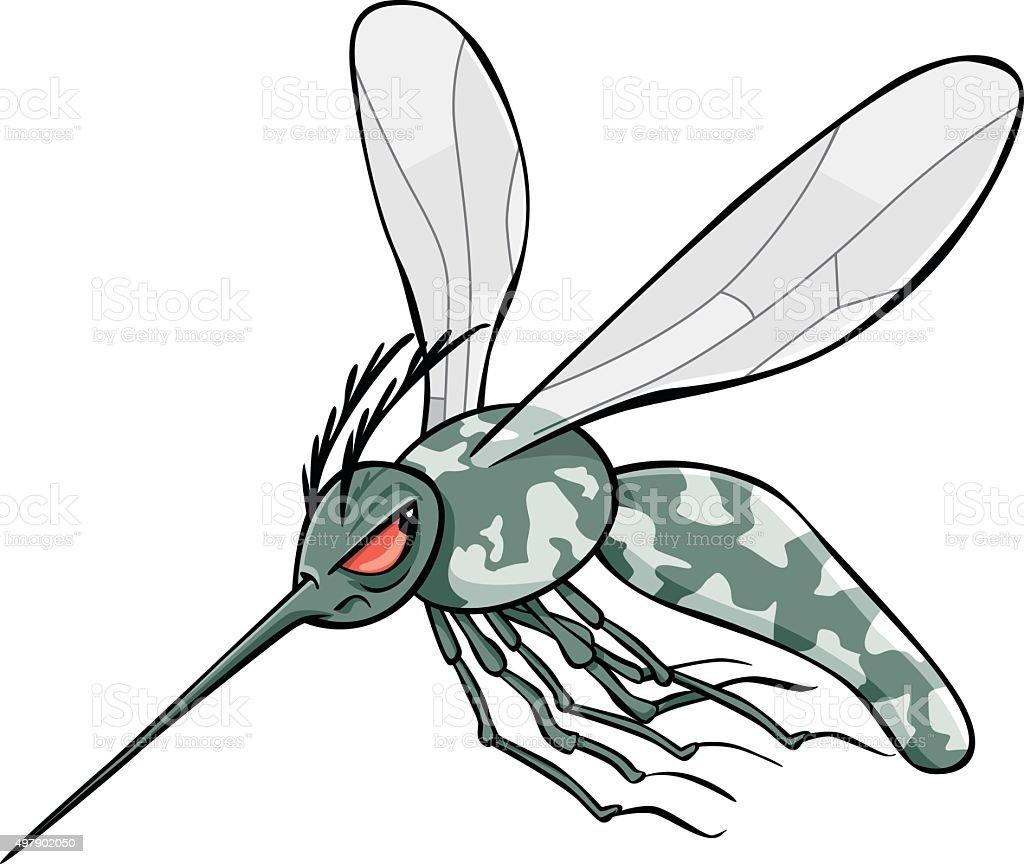 Mosquito tigre vector art illustration