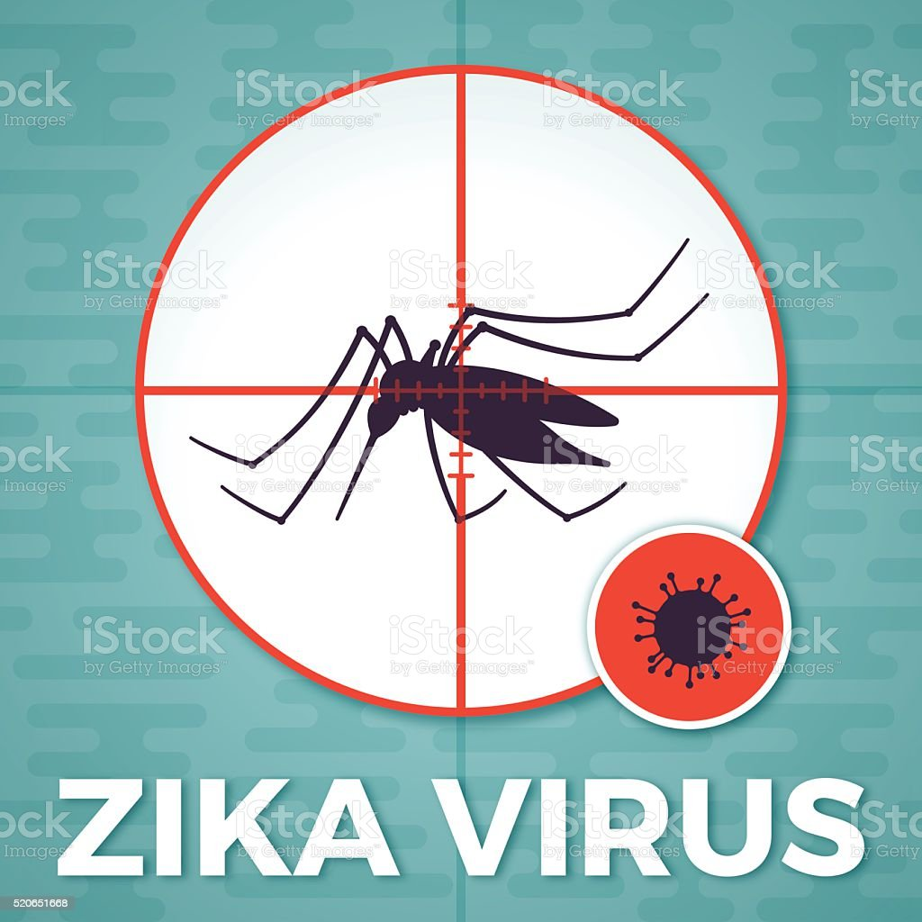Mosquito Virus Transmission vector art illustration
