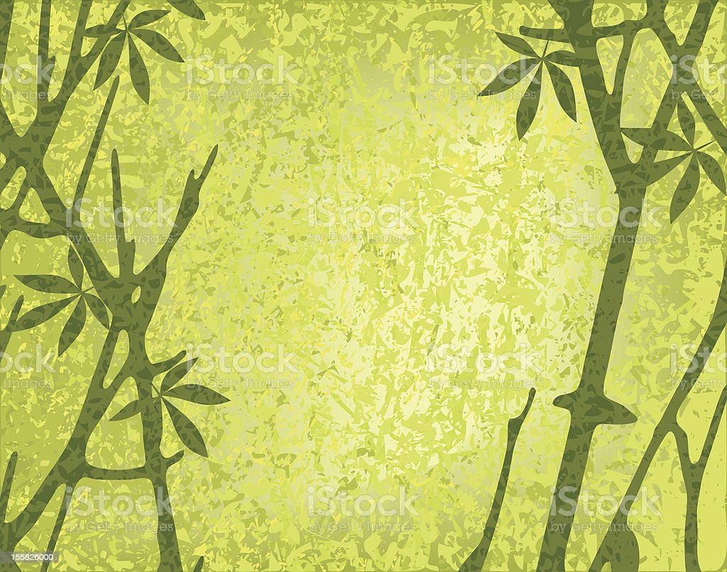 Moss forest vector art illustration