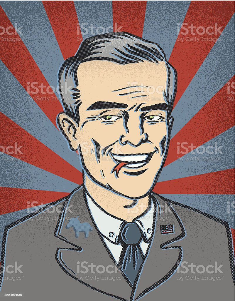 Most Likely Sociopath Democrat vector art illustration
