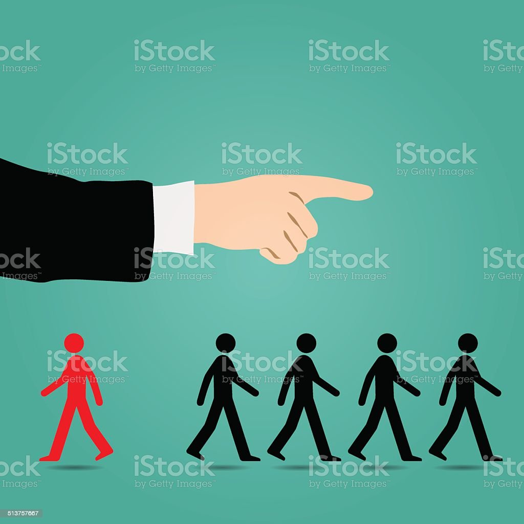 Most people are guided in the right direction. vector art illustration