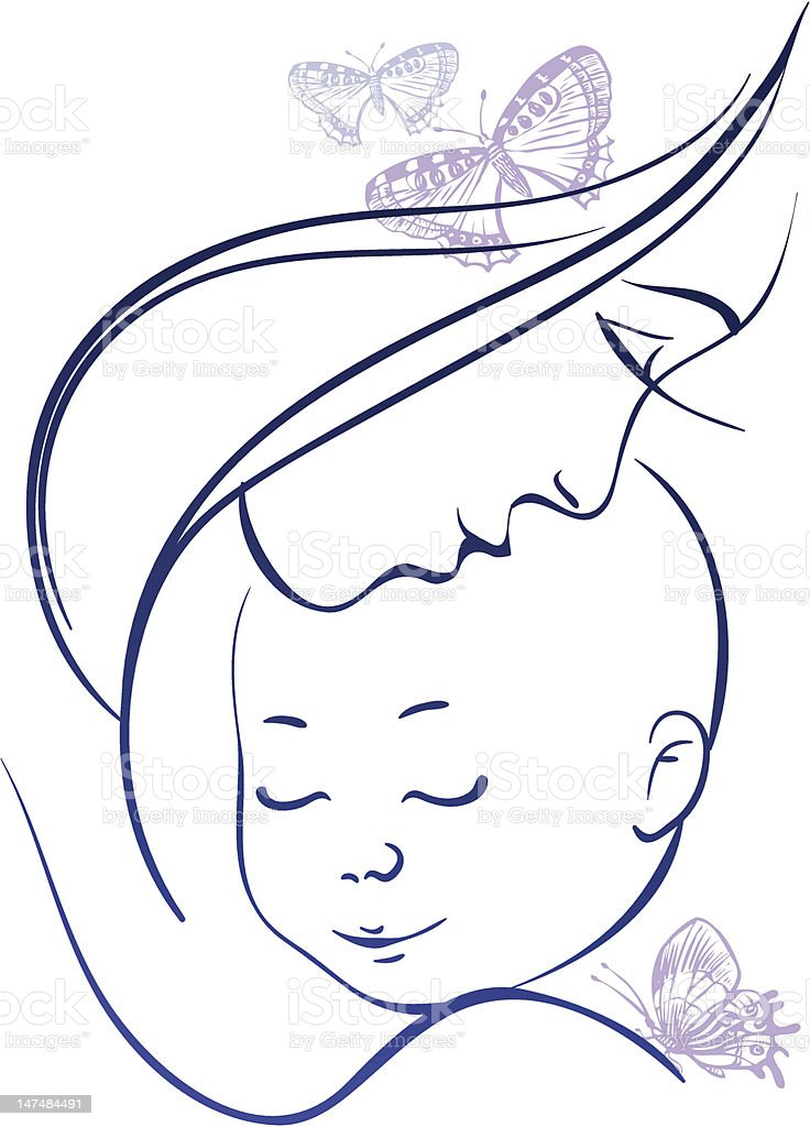 Mother and baby royalty-free stock vector art