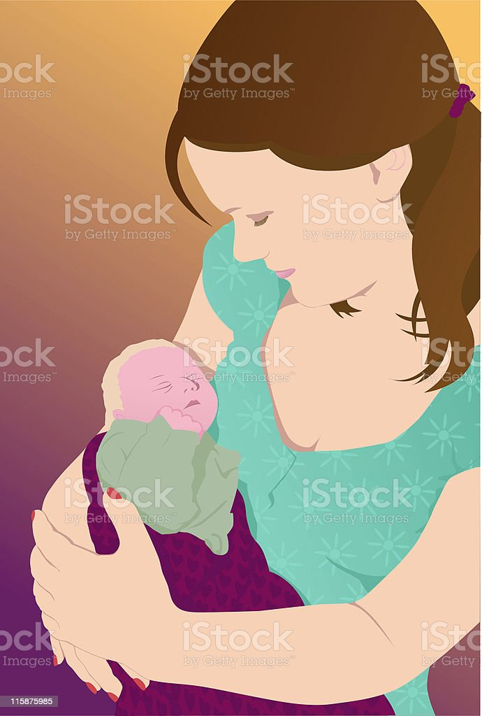 Mother and baby - Vector illustration royalty-free stock vector art