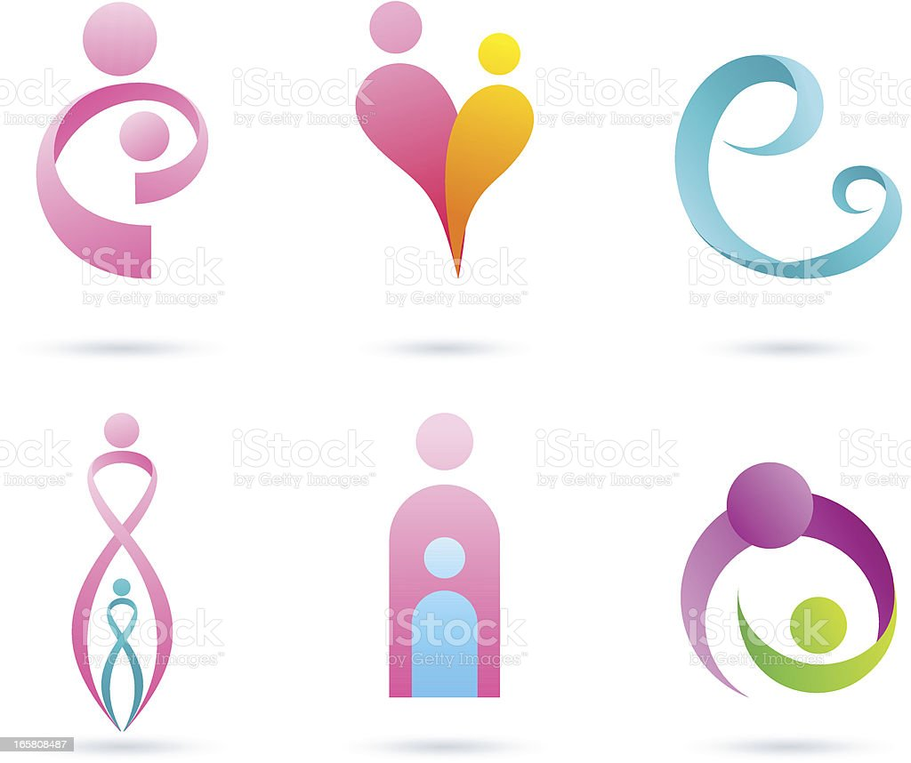 Mother & baby vector art illustration