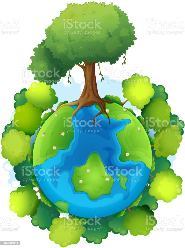 Mother earth royalty-free stock vector art