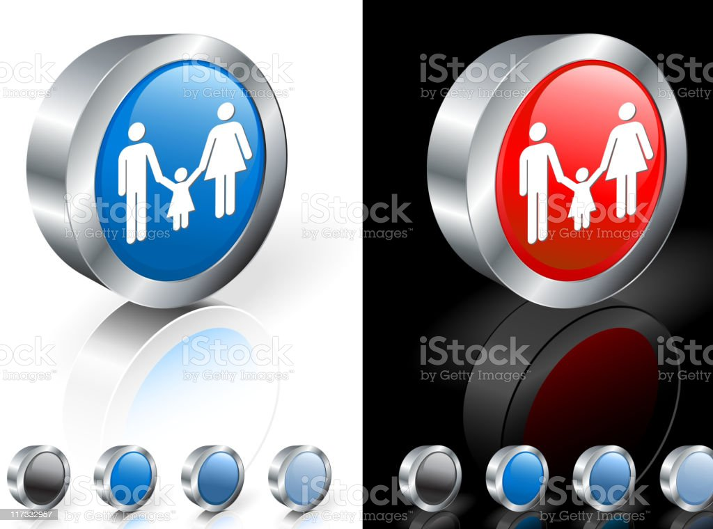 Mother, father and daughter 3D royalty free vector art royalty-free stock vector art