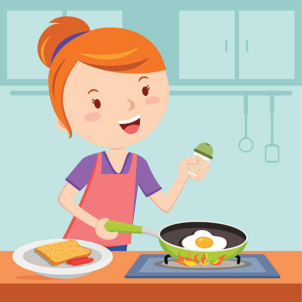 Mom Cooking Clip Art, Vector Images & Illustrations