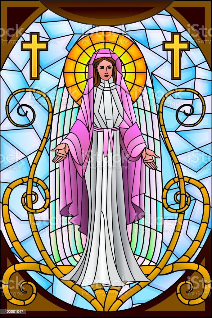 Mother Mary royalty-free stock vector art