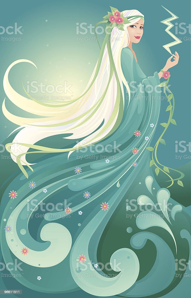 Mother Nature royalty-free stock vector art