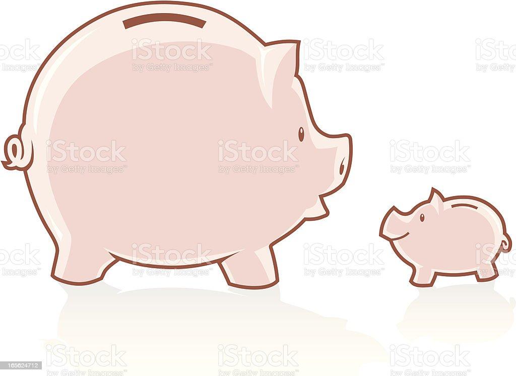 Mother Piggy Bank royalty-free stock vector art