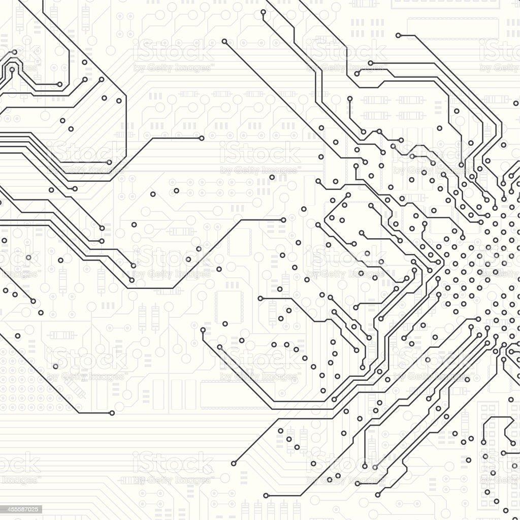 Motherboard vector art illustration