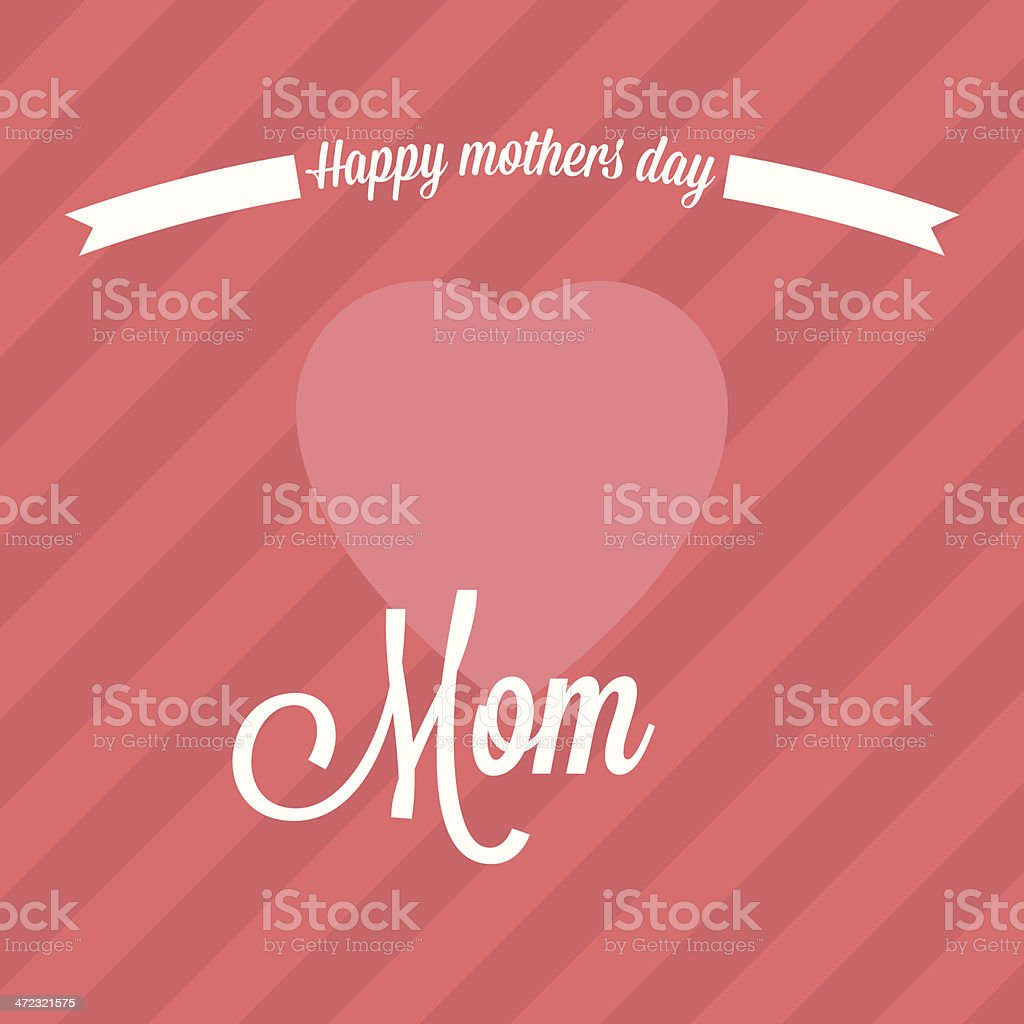 Mothers day background vector art illustration