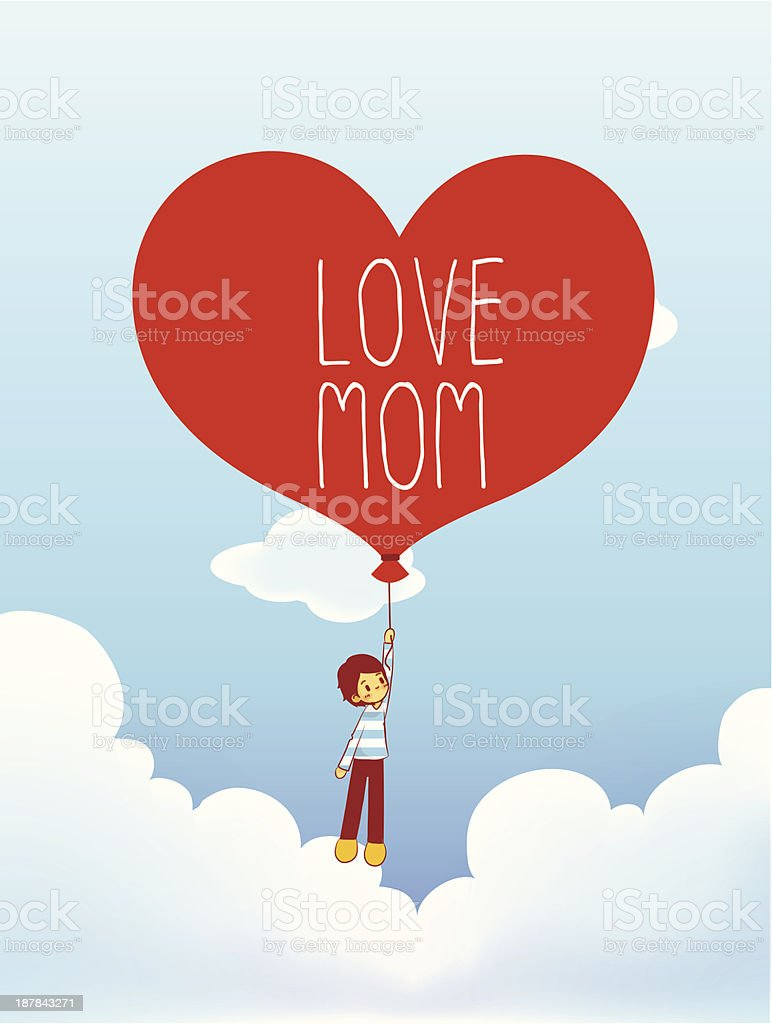 Mother's Day Card Vector File EPS10 royalty-free stock vector art