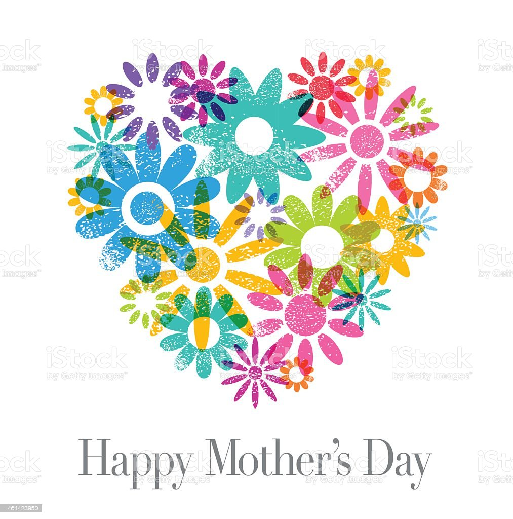 Mother's Day Card vector art illustration
