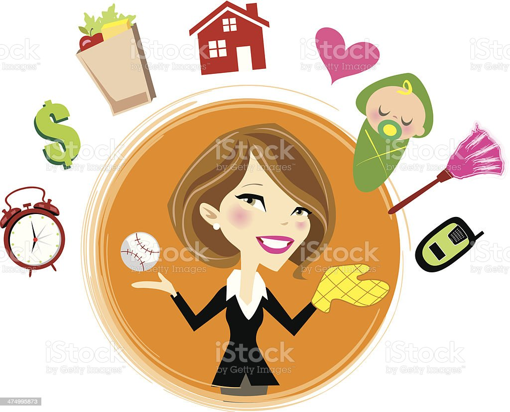 Mothers Day Collage vector art illustration