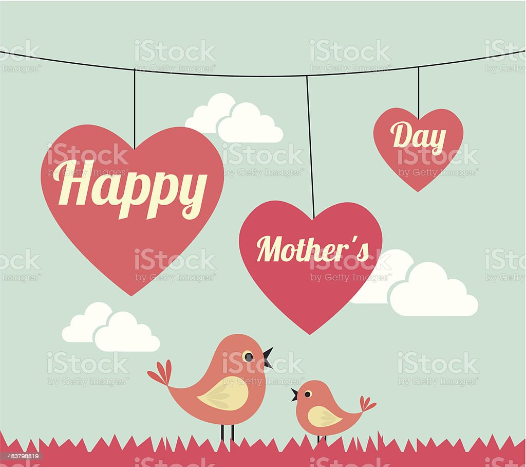 Mothers day design vector art illustration