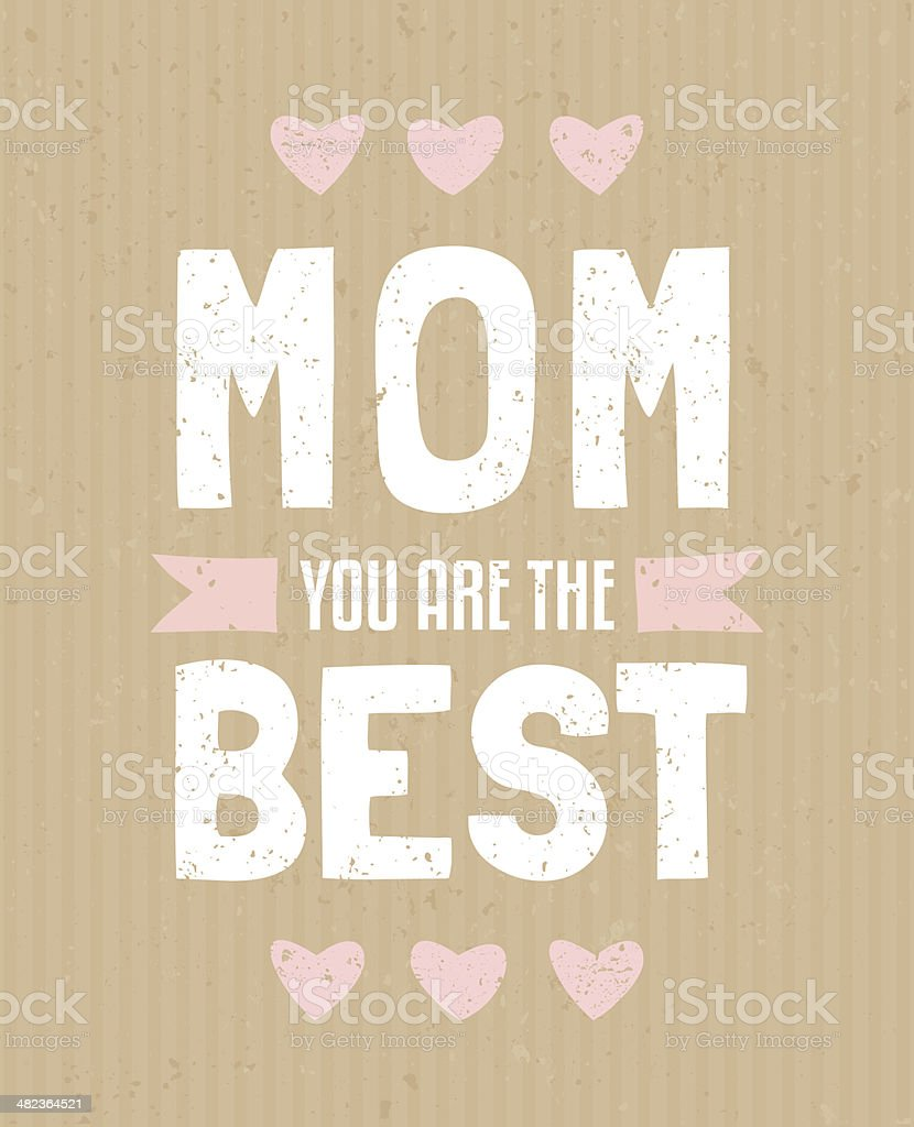 Mother's Day Greeting Card vector art illustration